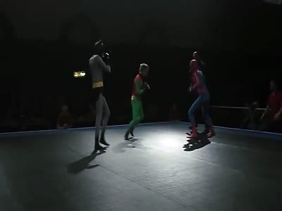 Spiderman Owns Batman & Robin [Super Hero MMA Fight]