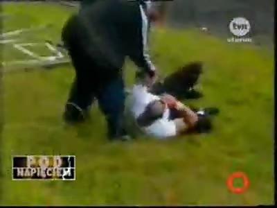 Polish Football Hooligans Battling It Out