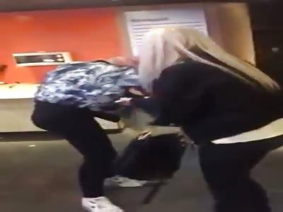 Drunk Annoying Girl Back flip Fail at McDonald's