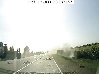 Rider Dies on Brutal Head on Collision