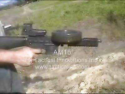 AM15 Full Auto .22LR M16 Upper Receiver with 220 round drum!