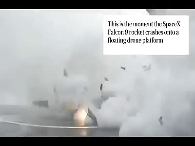 Falcon 9 rocket explodes on landing.