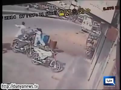 Karachi bank robbery.