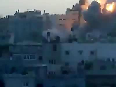 Bombing in West Gaza.