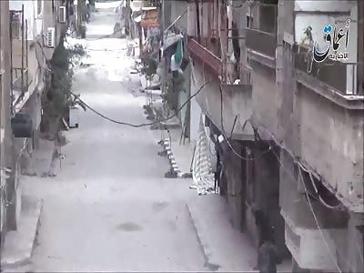 ISIS Cowards in Yarmouk, near Damascus.