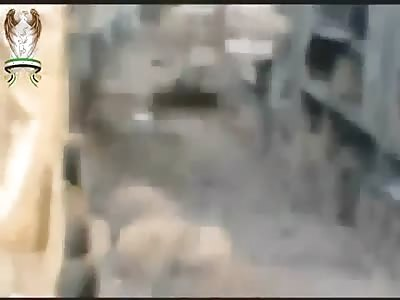 Syria; Near miss on tank.