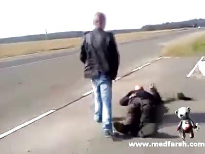 Bastard hit Grandpa