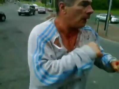 Irish gypsy fight in the street