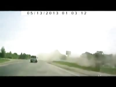 Car goes airborne