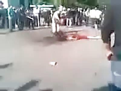 2 Rapists Set on Fire in Uzbekizstan