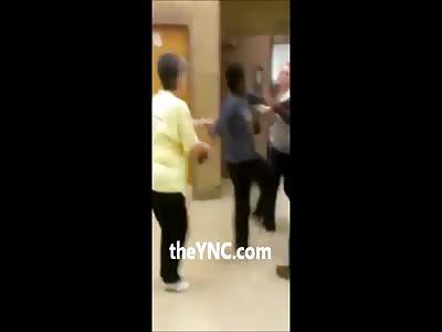 Deranged Black Girl Attacks her Teacher for Telling her to Study More