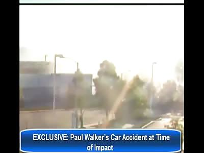 Paul Walker's Explosive Fiery Crash Caught on Suveillance Video