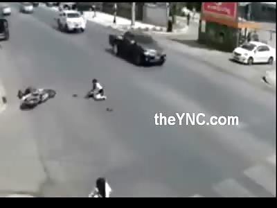 Rider Hits Girl.... Rider Dies