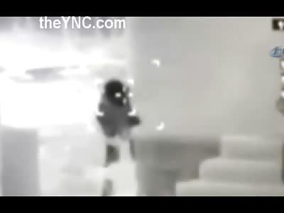 PKK Terrorist Being Killed with Multiple Shots on Night Vision