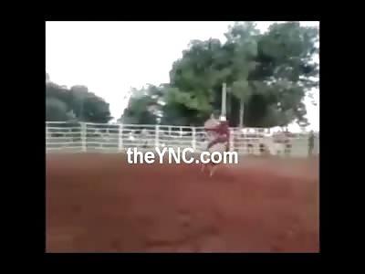Bull CRUSHES Riders Head.... DAMN! (Slow-mo Added)