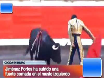 Bullfighter Gets Gored