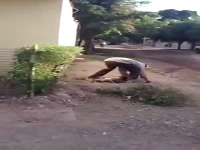 Sick Twisted Asshole Kills Dog then Drinks its Blood