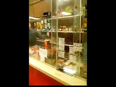 Racist Liquor Store Owner Goes off on Instigating Black Guy