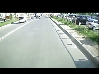 Drunk, Shirtless, Helmet-less Scooter Driver's Horrific Last Ride