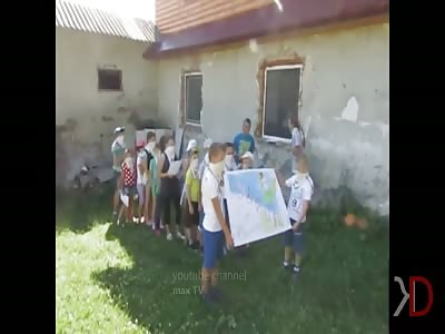 A specialized camp for Ukrainian children. Fascism in Ukraine