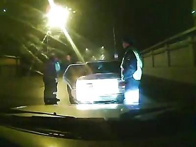 Driver shot police officers