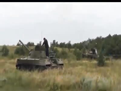 Donbass People's Militia attacking Ukrainian Army in or near Donetsk, Ukraine/Novorossiya