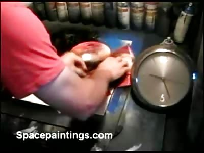 Amazing 39 Second Spray Painting