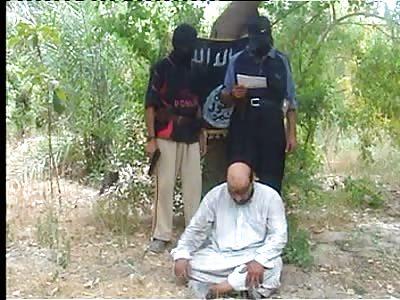 AQI killing a Shia with a pistol