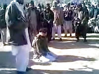 Taliban public execution