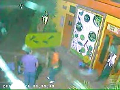 asesinato captado por CCTV
