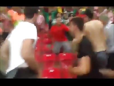 World Cup Stadium Fight - Mexico vs. Croatia