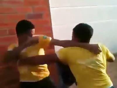 *Brazil* Kids' gangs fight outside of school