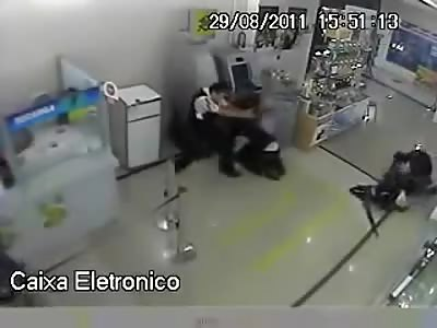 Security vs Niggers Thief in Brasil