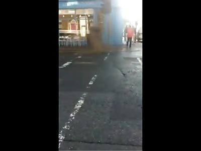 Manhole explosion in Dublin, Ireland - dozens startled
