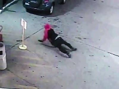 Store clerk shoots 2 robbers dead.