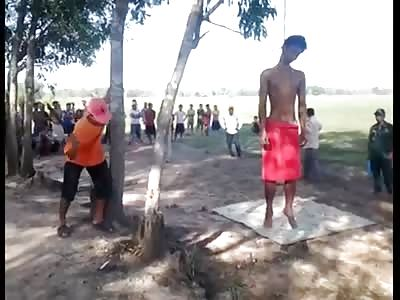 MAN HANGED IN TREE