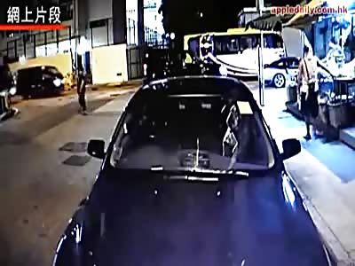 WOMAN STRUCK BY VAN IN HONG KONG
