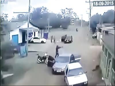 SHOOTING LEAVES THREE INJURED