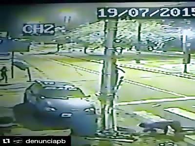 BIKER STOPPED BY POLICE KICK