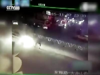 BMW KNOCKS DOWN HORSE-RIDER