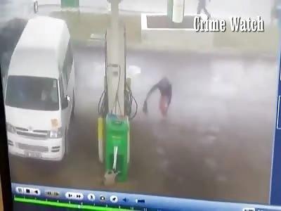 MAN FLUNG OUT OF A CAR TO HIDE GUN