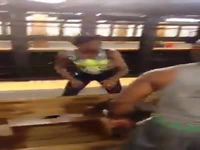 MAN HITS WOMAN IN NEW YORK CITY METRO