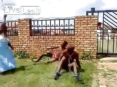 Niggers having fun in the sun