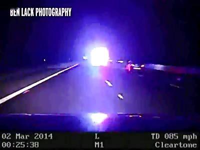 UK Police heard screaming, as criminal rams vehicle causing it to roll
