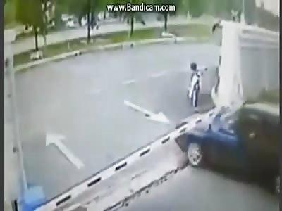 Karma for a car thief