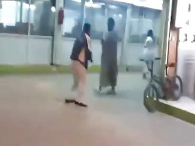 Shop Robbery and hooliganism in Saudi Arabia