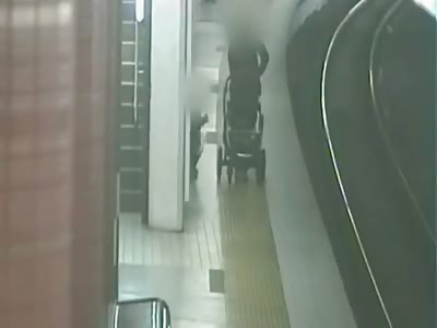 Pram Sucked Into Path of Train