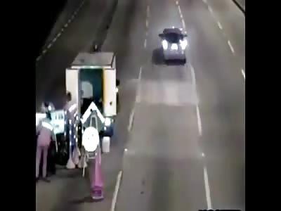 Accident motorbike direct Crash