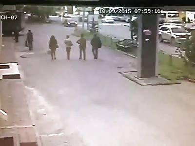 Reversing van kills woman