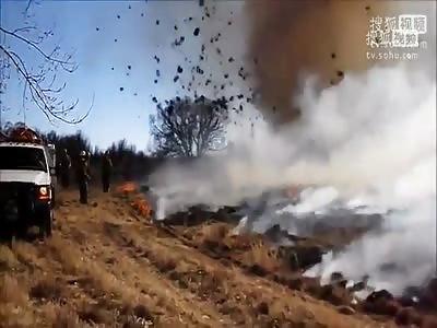 A tornado flame